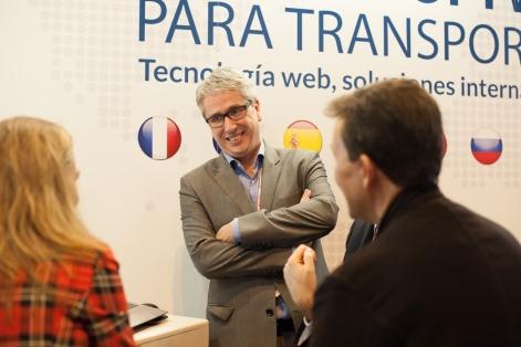 Víctor Vilas en stand AndSoft Logistics Madrid 2015
