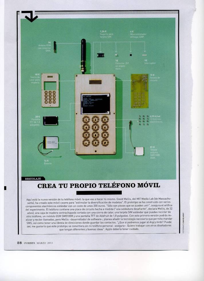Fabricar un teléfono móvil