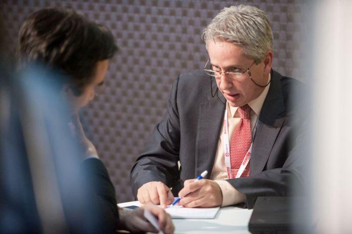 Victor Vilas en stand Logistics Madrid 2013