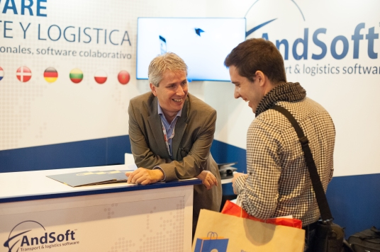 Victor Vilas stand AndSoft Logistics Madrid 2015