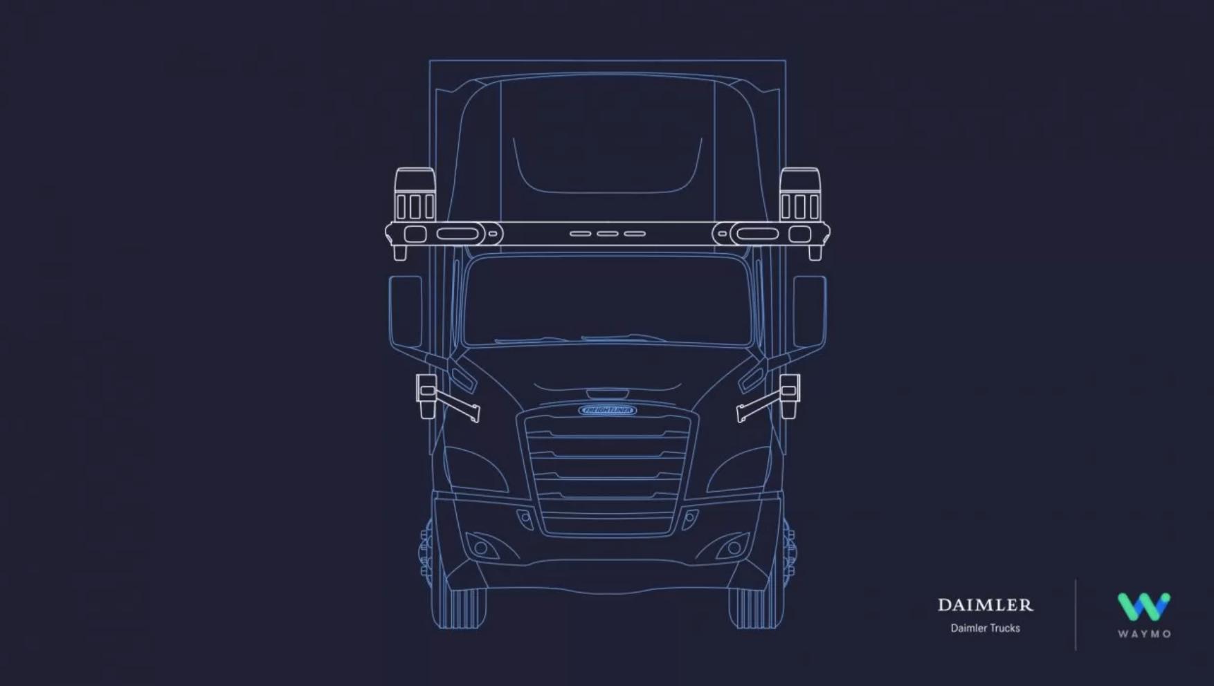 El camión de mercancías autónomo, más cerca, gracias a Daimler Trucks y Waymo
